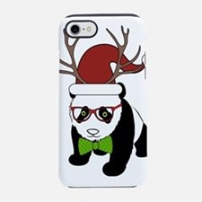 Hipster Christmas Panda iPhone 7 Tough Case