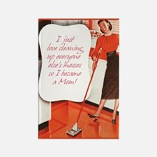 Sarcastic Love Cleaning Rectangle Fridge Magnet