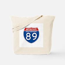 Interstate 89 - NH Tote Bag