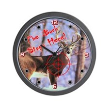 The Buck Stops Here Wall Clock