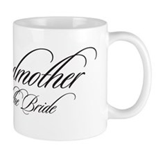 Godmother of the Bride Black Fancy Script Mug