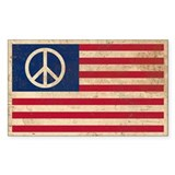 Peace bumper sticker Single