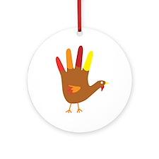 Turkey Hand Ornament (Round)