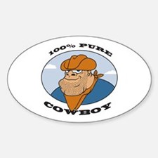 100% Pure Cowboy Oval Decal