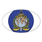 Interpol Oval Sticker