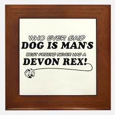 Devon Rex Cat designs Framed Tile