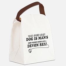 Devon Rex Cat designs Canvas Lunch Bag