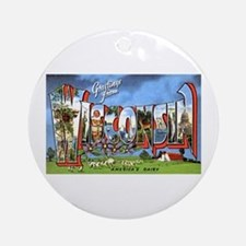 Wisconsin Greetings Ornament (Round)