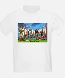 Wisconsin Greetings (Front) Kids T-Shirt
