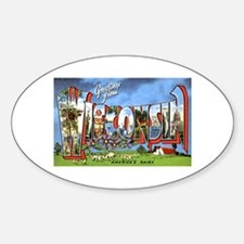 Wisconsin Greetings Oval Decal