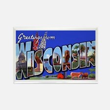 Wisconsin Greetings Rectangle Magnet
