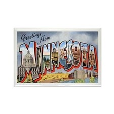 Minnesota Greetings Rectangle Magnet