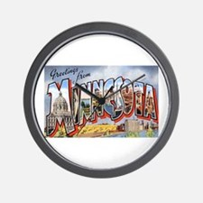Minnesota Greetings Wall Clock