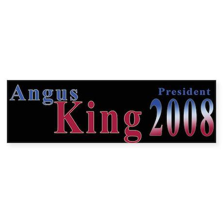 Angus King 2008 Bumper Sticker