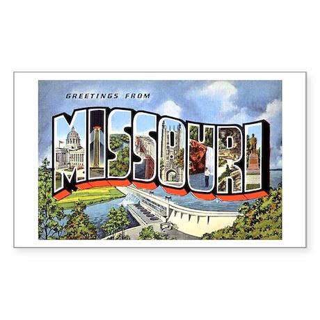 Missouri Greetings Rectangle Sticker