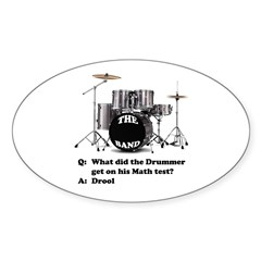 Drummer Drool - Oval Decal