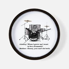 Drummer Joke -  Wall Clock