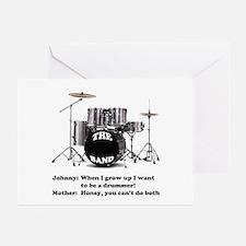 Drummer Joke -  Greeting Cards (Pk of 10)