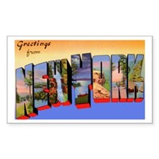 New York Greetings Rectangle Decal