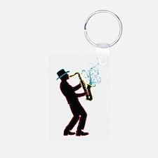 Saxophone Player Keychains