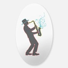 Saxophone Player Decal