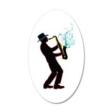 Saxophone Player Wall Sticker