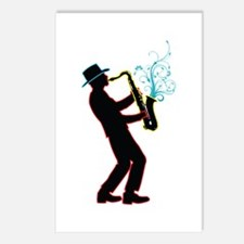 Saxophone Player Postcards (Package of 8)