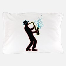 Saxophone Player Pillow Case