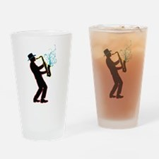 Saxophone Player Drinking Glass