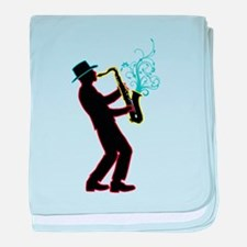 Saxophone Player baby blanket