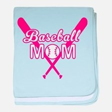 Cute Pink baseball Mom baby blanket