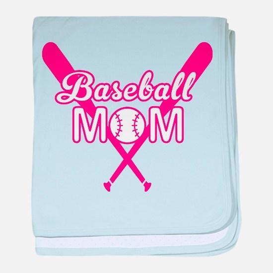 Cute Pink baseball Mom baby blanket