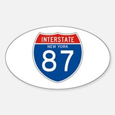 Interstate 87 - NY Oval Decal