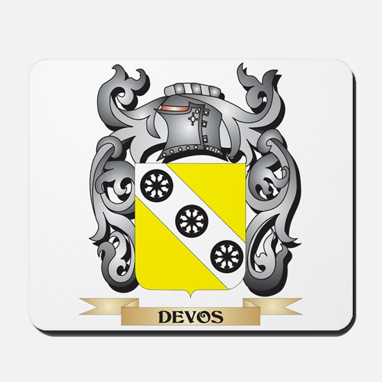 Devos Coat of Arms - Family Crest Mousepad