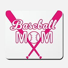 Cute Pink baseball Mom Mousepad