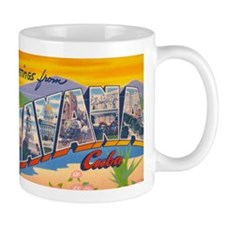 Vintage Greetings from Havana Cuba Mug