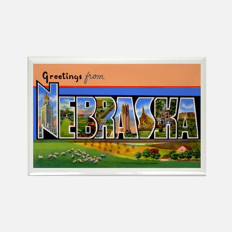 Nebraska Greetings Rectangle Magnet