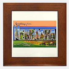 Nebraska Greetings Framed Tile
