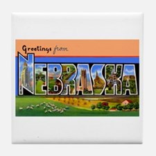 Nebraska Greetings Tile Coaster