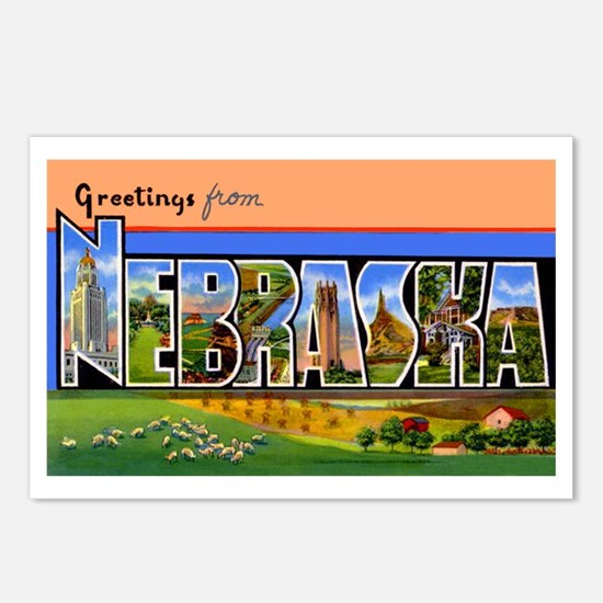 Nebraska Greetings Postcards (Package of 8)