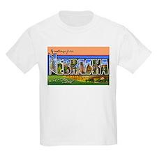 Nebraska Greetings (Front) Kids T-Shirt