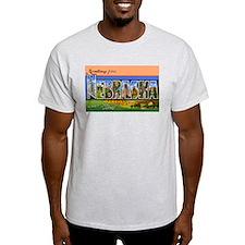 Nebraska Greetings (Front) Ash Grey T-Shirt