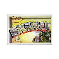 Michigan Greetings Rectangle Magnet (10 pack)