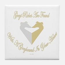 Greyt Riches Gold & Silver Tile Coaster