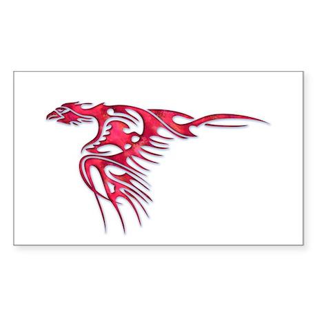 Tribal Bird Art 2 Rectangle Sticker