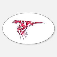 Tribal Bird Art 2 Oval Decal