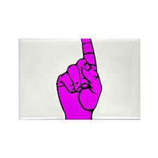 Sign Language 1 e1 Rectangle Magnet