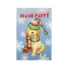 Holiday Golden Retriever Rectangle Magnet