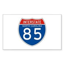 Interstate 85 - NC Rectangle Decal