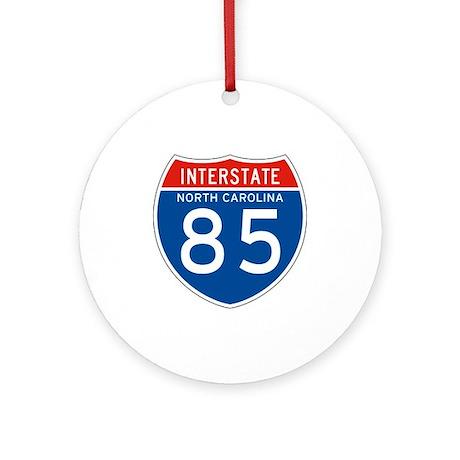Interstate 85 - NC Ornament (Round)